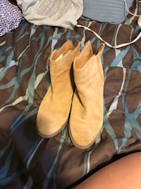 Tan booties Tulsa, 74134