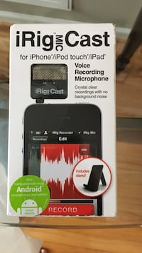 IRig Mic Cast Voice recording microphone for iPhone box Tega Cay, 29708