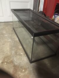 black framed clear glass pet tank Manteca