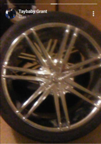 24 in rims and tires where previously on a tahoe WESTCOLUMBIA