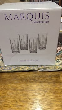 Marquis cristal glass set of 4 New Mississauga, L4Y 3L4