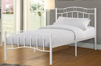 Brand new white metal platform bed frame in single and double warehouse sale  多伦多, M1S 4P5
