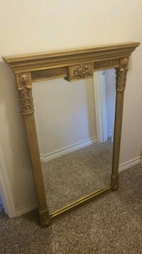 rectangular brown wooden framed mirror Abilene, 79601