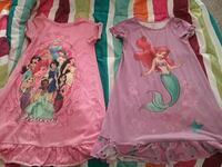 2 disney night gowns size 5/6