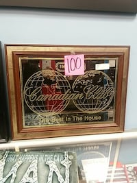 brown wooden framed Canadian Club logo Hagerstown, 21740