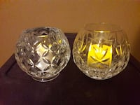 two clear glass candle holders Ocala, 34472