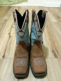 Justin Womens brown leather cowboy boots Dryden, 24243