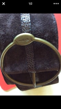 Brown crocodile Ferragamo Belt Washington, 20017