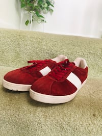 Pair of Red and White sneakers size 8 women  Centreville, 20121