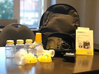 Black and yellow medela breast pump set Vaughan, L6A 0X3