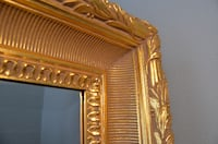 68 X 44  Large Neoclassical Gilt Framed Leaning or Wall Beveled Mirror Spring