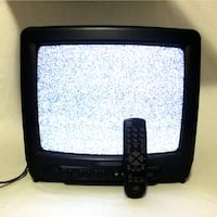 "13"" CRT Tube TV With Remote Nice Picture For Retro Old School Gaming Durabrand Port Colborne"