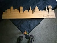 BEAUTIFUL HAND CARVED SKYLINE OF BALTIMORE Baltimore, 21229