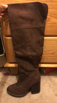 Brown knee high boots La Palma, 90623