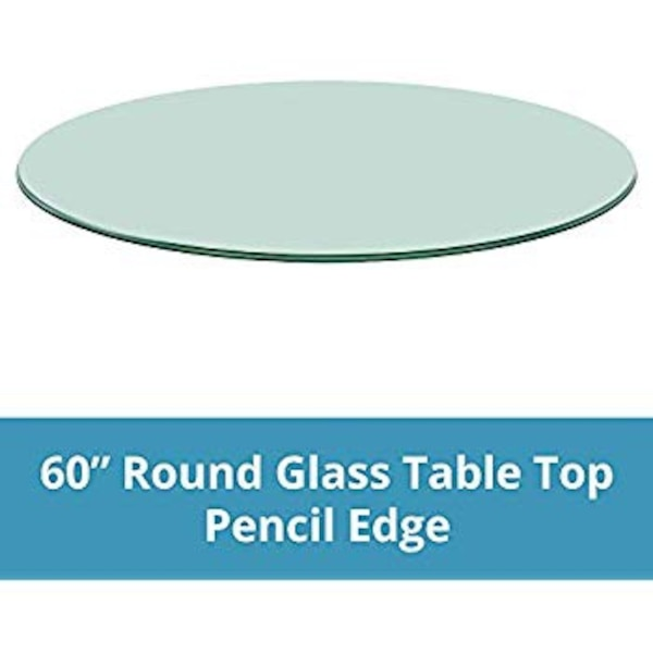 Used 60 Round Glass Table Top 12 Thick Brand Newfor Kitchen Or
