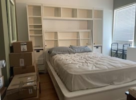 Off White Bed Unit