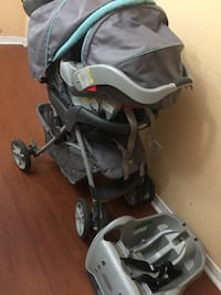 Graco travel system graco stroller and car seat, base(expiry sept 2021) 542 km