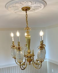 Pineapple Hospitality 5-Arm Chandelier by Waterford Bowie, 20721