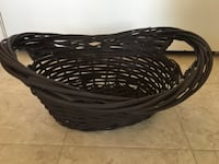 Medium sized brown wicker basket London
