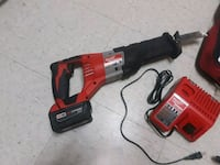 red and black Milwaukee cordless power drill Alexandria, 22306