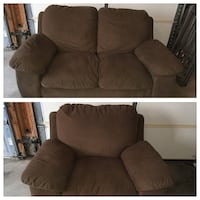 2 piece - Comfortable Loveseat and chair fabric sofa! Whitby, L1P 1S1