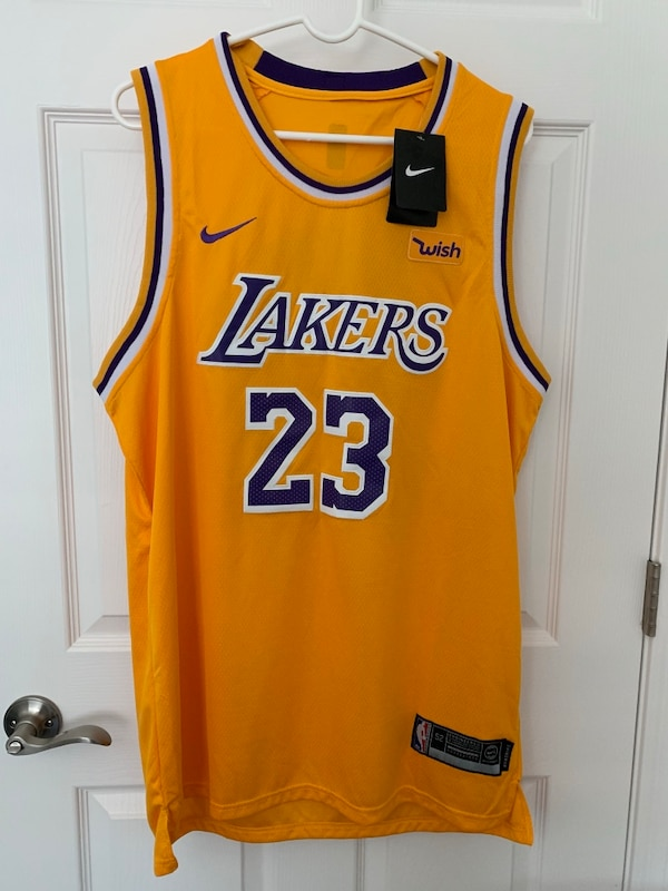 new concept 73b09 25a2d Lebron James Swingman Gold Los Angeles Lakers Jersey #23