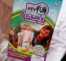 My fun fish cleaning tank with beat water softener