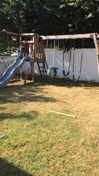 Kids solid wood swing set