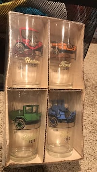 Hazel Atlas Antique Classic Auto Tumbler Glasses Crest Hill, 60403