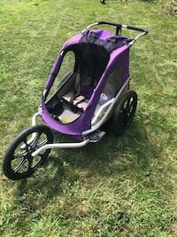 baby's purple and black jogging stroller Pointe-Claire, H9R 4T5