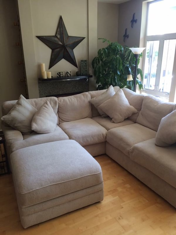 Used Goose Down Sectional Sofa With