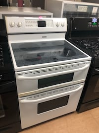 White Maytag Gemini Double Oven Stove Woodbridge, 22191