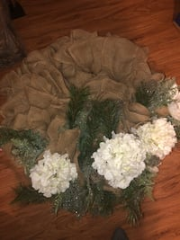 Large Burlap Christmas Wreath Greenville, 75402