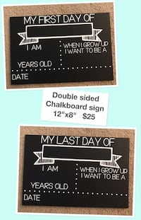 First and Last Day double Sided Chalkboard Sign  Calgary, T3P 1E7