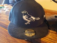 Black Baltimore Orioles New era fitted hat 48 km