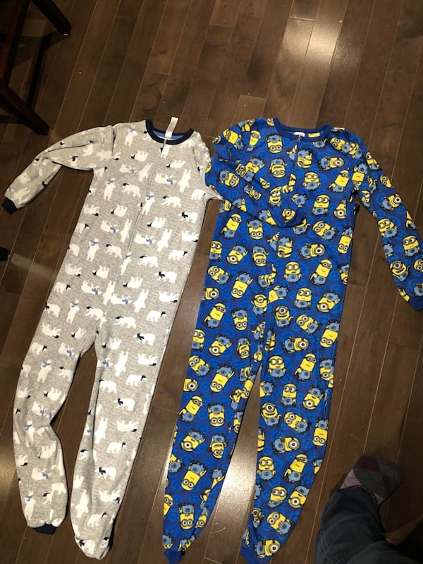 Boys Fleece Footless Onesies sz10-12 616d00d6-740b-4a54-9d1d-8826258c0869