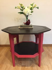 Used Brown Wooden Table With Two Chairs For Sale In East