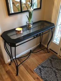 black metal framed glass top desk Sandy Springs, 30328
