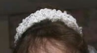 Matching headpiece for wedding gown