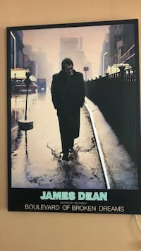 James Dean picture with working fluorescent light  Georgetown, L7G