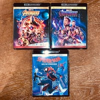 Endgame, Spider-Verse & Infinity War Blu-rays Chantilly