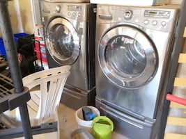 WASHER AND DRYER - LG FRONT LOAD WASHER AND GAS DRYER SET