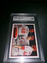 2012 TOPPS GRADED GEM MINT 10 MIKE TROUT CARD