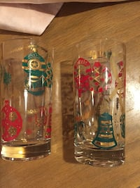 Vintage Christmas Tree Ornament Holiday Glasses Chicago, 60640