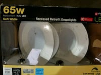 Recessed Retrofit Downlights LED Soft White 65W Chantilly, 20151