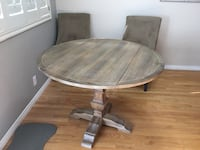 Our One drop leaf table plus four chairs