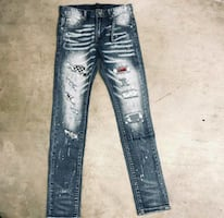 Amiri patchwork distressed size 40