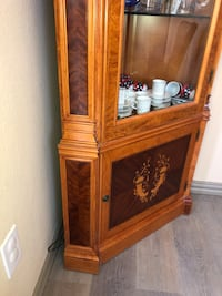 Classic wood  cabinet with inlaid  Frisco