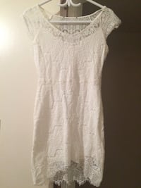 women's white lace sleeveless dress Medicine Hat, T1A