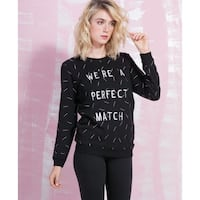 We're A Perfect Match SWEATER- SMALL Edmonton, T6W 0X1